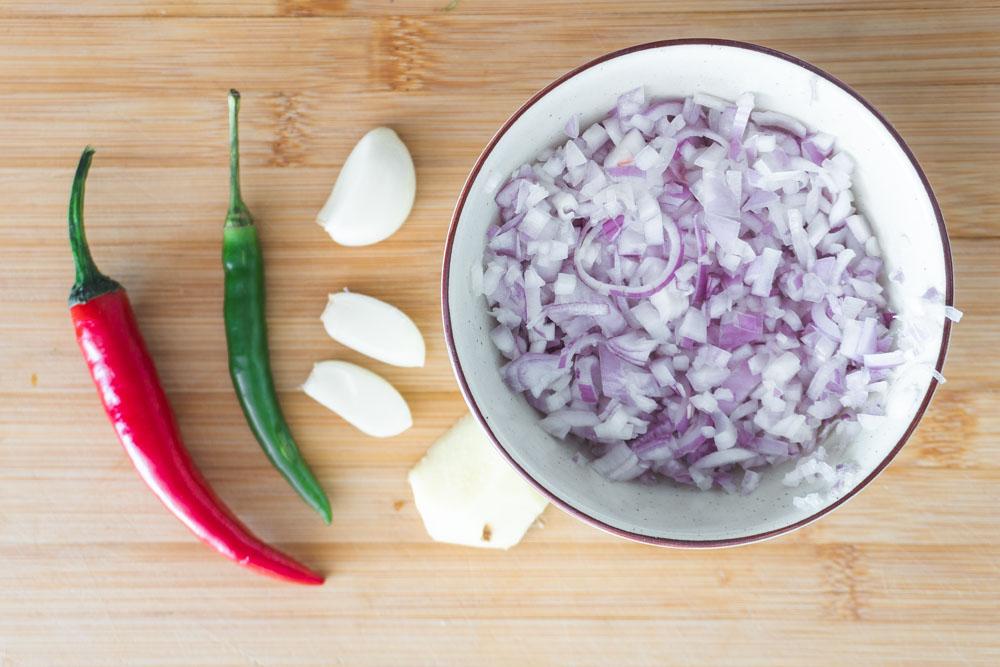 Ingredients before cooking