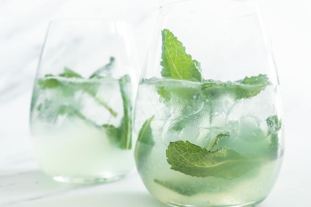 A refreshing homemade mojito