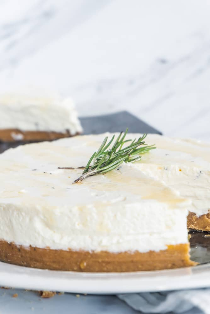 Rosemary Honey Cheesecake-8