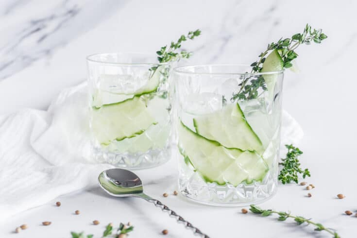 Thyme and Cucumber Gin Cocktail Recipe